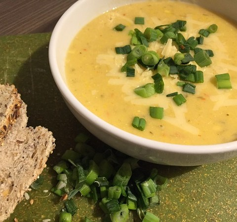 chilli corn chowder | Sarah Irving Susty Meals