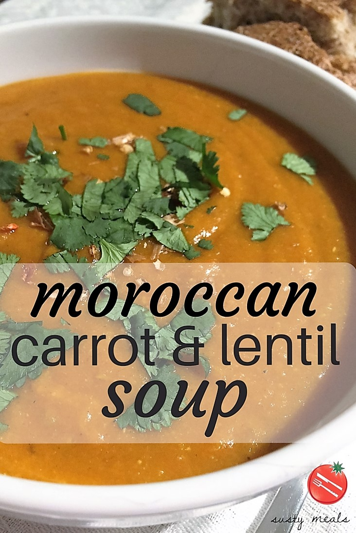 Moroccan Carrot and Lentil Soup - Susty Meals
