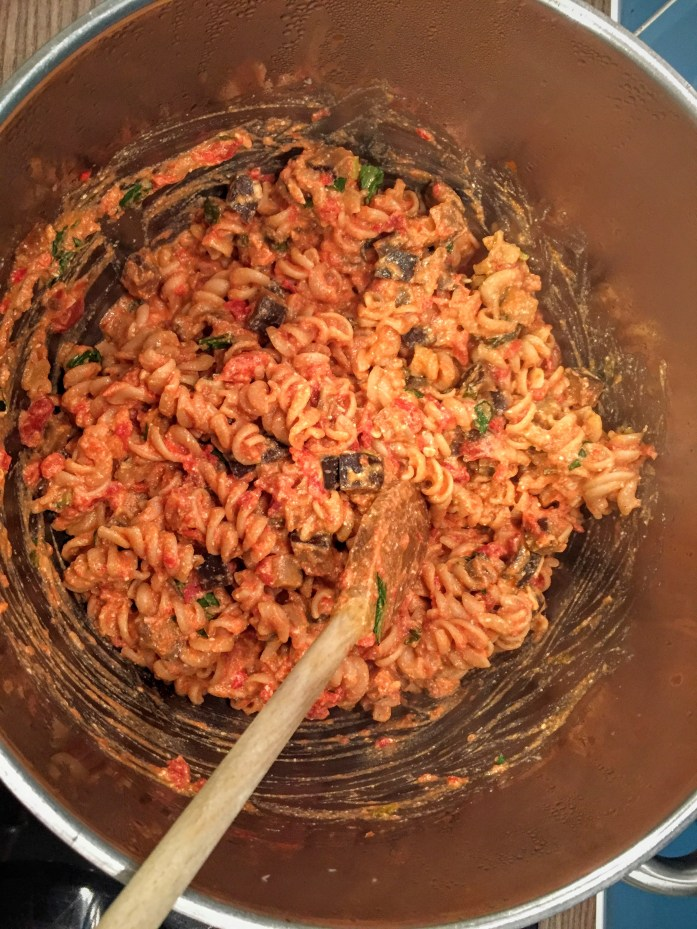 Creamy Chilli, Tomato and Aubergine Pasta | Vegetarian Pasta Recipe | Susty Meals | Sarah Irving