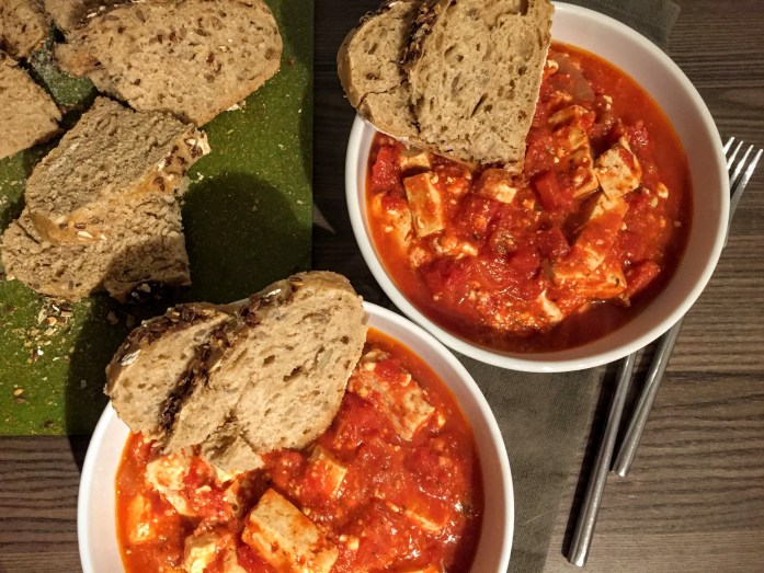 Herby Feta and Tofu Bake   Vegetarian Dinner Recipes   Sarah Irving   Susty Meals   Manchester