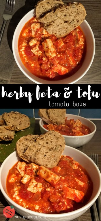 Herby Feta and Tofu Bake  | Vegetarian Dinner Recipes | Sarah Irving | Susty Meals | Manchester | Food Blogger | Recipe Creation