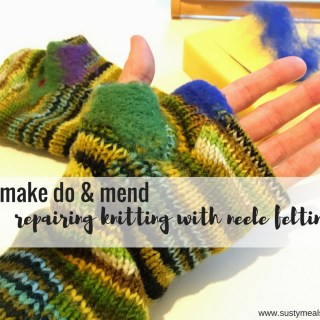 Repairing knitting with needle felting | Make do and mend | Sustainable Living | Eco Fashion | Sarah Irving | Susty Meals | Needle Felting How To
