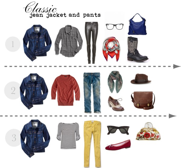 Classic Jean Jacket And Pants