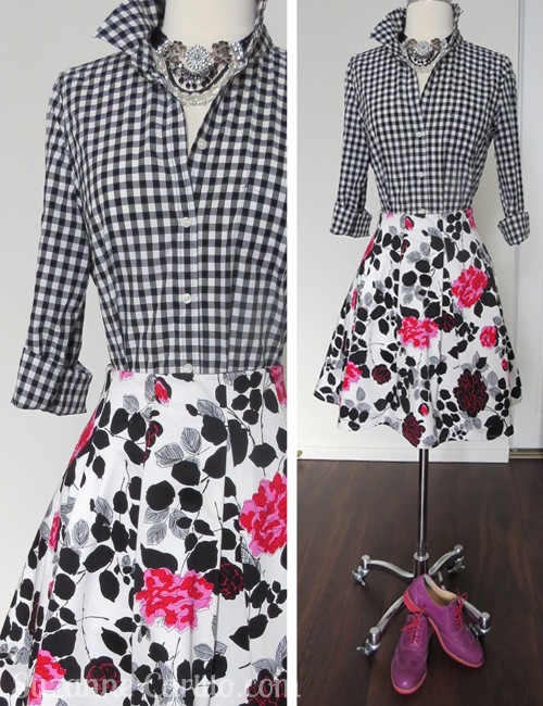 How to wear gingham with florals