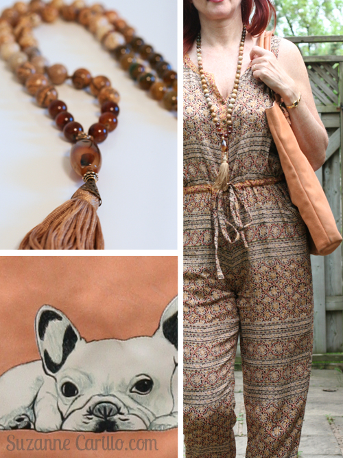 anthropologie patterned jumpsuit for summer