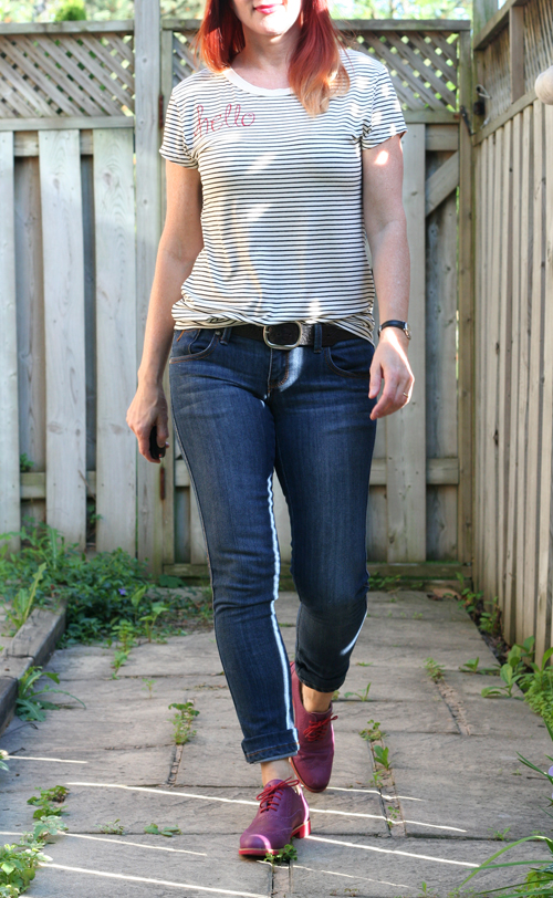 hello goodbye striped tshirt DIY by suzanne carillo