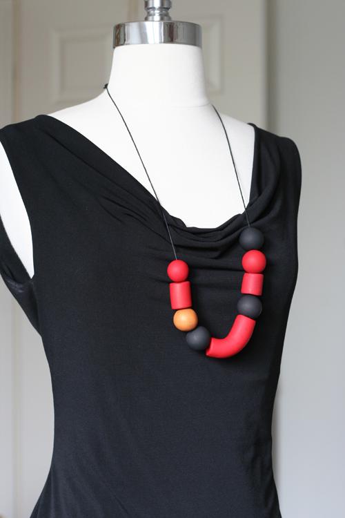 handmade clay necklace suzanne carillo