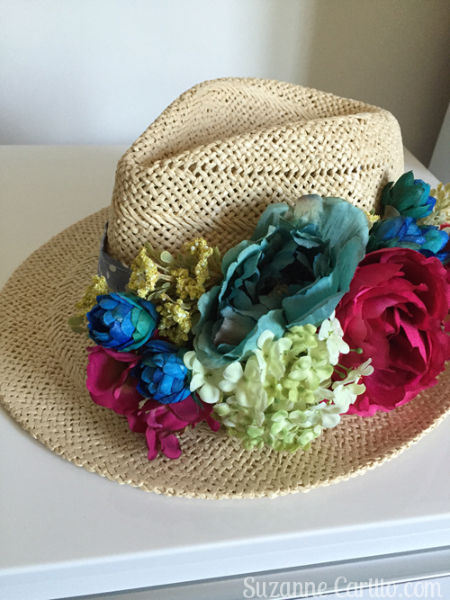 floral hat DIY suzanne carillo style for women over 40