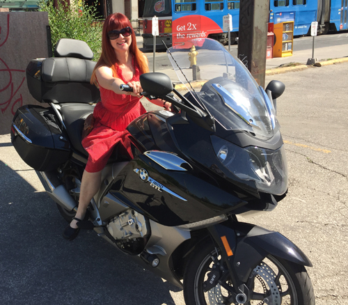riding motorcycle suzanne carillo