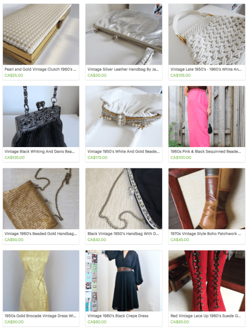 Vintage By Suzanne Etsy store for quality unique vintage clothing and accessories