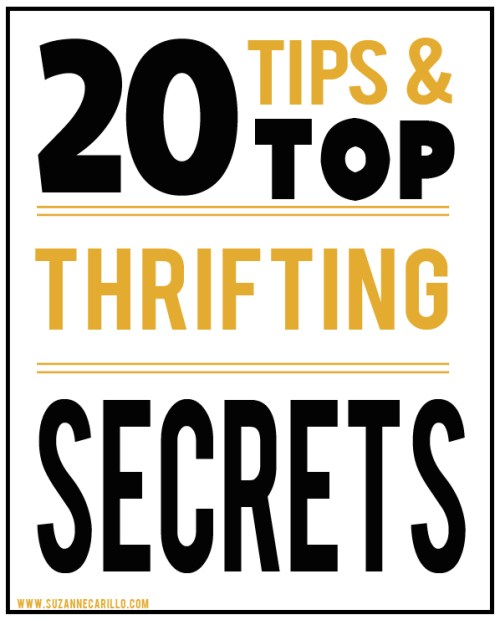 20 thrift shopping secrets for quality treasures suzanne carillo