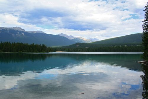 Jasper Alberta lake view