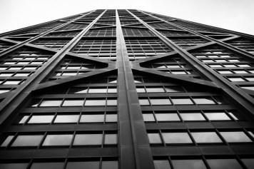 Building exterior of Chicago's John Hancock Center