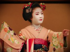 Geisha performance in Kyoto, Japan