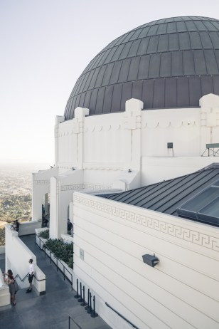 Griffith Observatory backside on the east