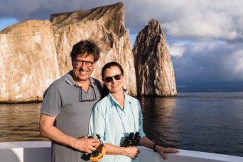 Cruiseship Guests at Kicker Rock in the Galapagos