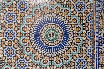 Colorful mosaic tiles close up