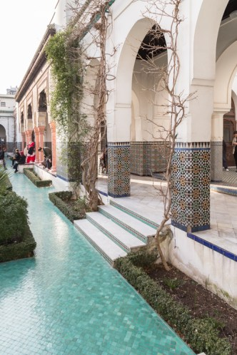 Garden courtyard at the Paris Grand Mosque