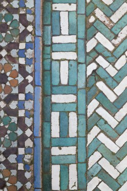 Green and White Chevron Floor at Paris Grand Mosque
