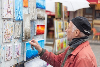 French Painter at Montmartre