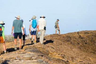 Guests Touring Genovesa Island