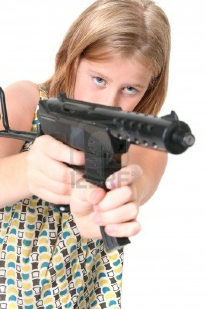 5788406-girl-with-gun-isolated-on-white-child-or-teenager-in-dress-with-army-machine-gun-toy