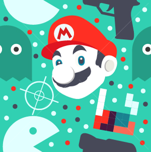 28.Gaming Seamless Pattern