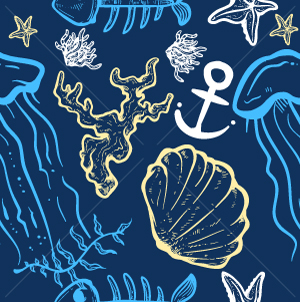 3.Nautical Seamless Pattern