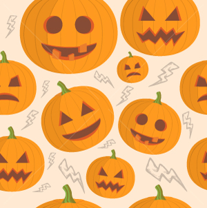 40.Pumpkin Seamless Pattern