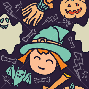 51.Halloween Seamless Pattern