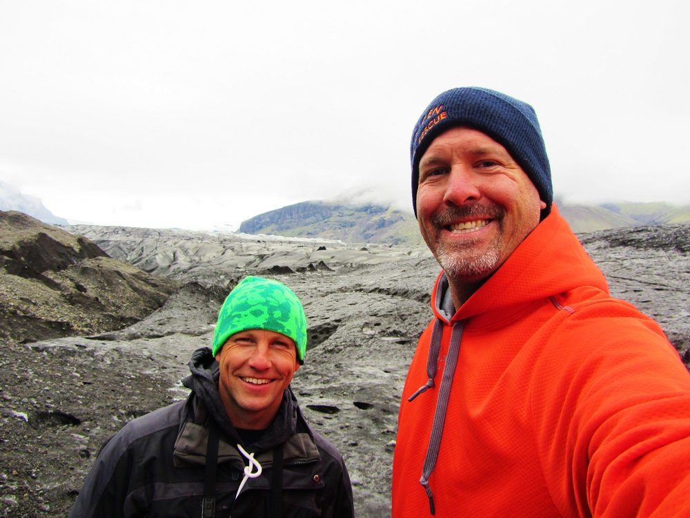 Iceland - 4 Vatnajokull - Eric & I On The Glacier