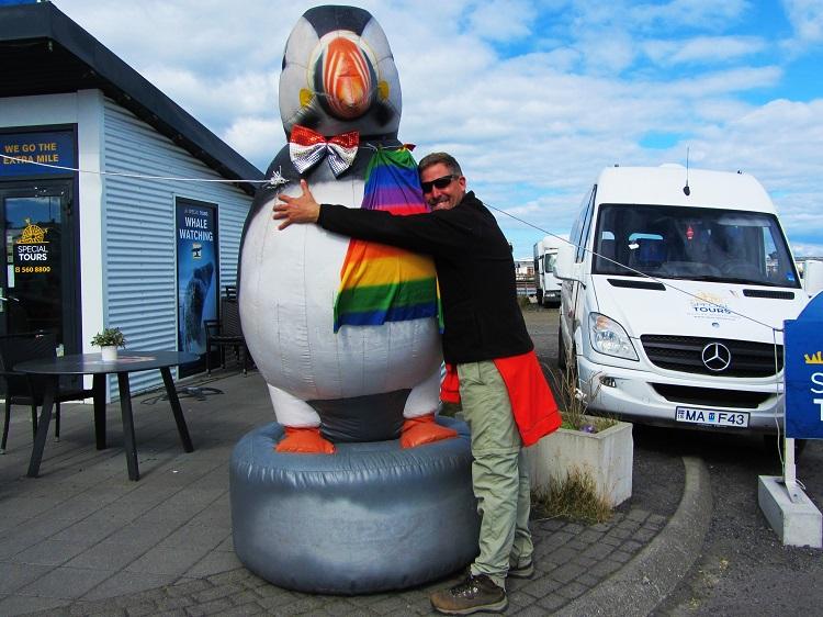 Iceland - 9 Puffins - Me Hugging