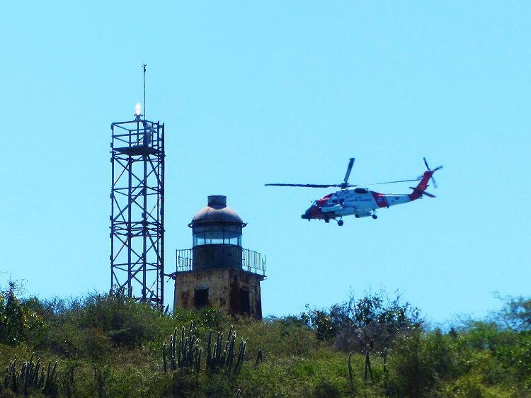 Helicopter WIth A Lighthouse