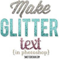 Make Glitter Text in Photoshop