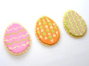 Sweet Dani B Fluted Easter Egg Cookies: Marbelized