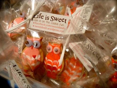 SweetDaniB Audience owl cookie giveaway