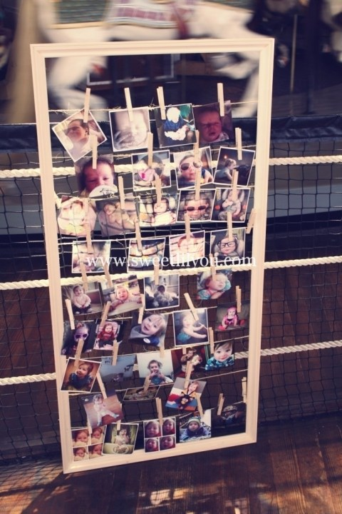 photo frame birthday party display