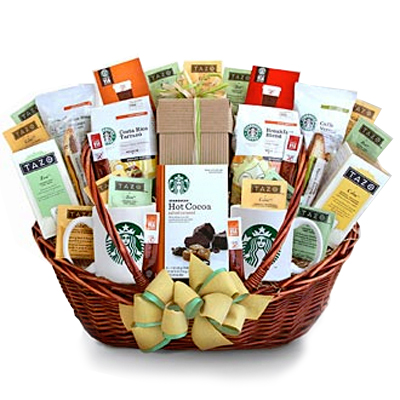 coffee starbucks gift basket celebration mom