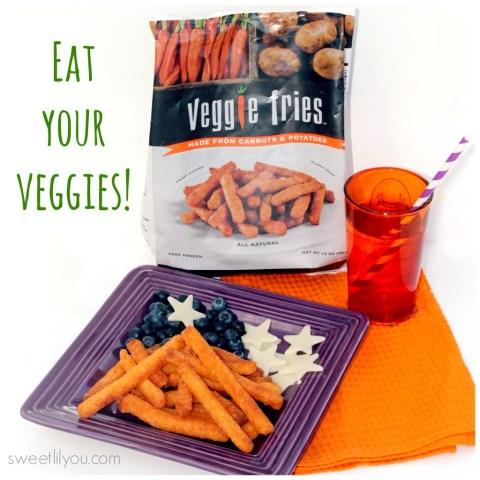 A fun way to eat your veggies!  Veggie Fries!