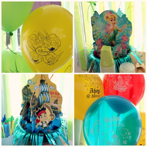 #DisneySide Pirates and Pixies party decor! Tinkerbell Jake and the neverland pirates #sponsored
