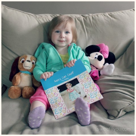 Avery is learning to count with Twigtale Personalized books! #books #learning #education #reading
