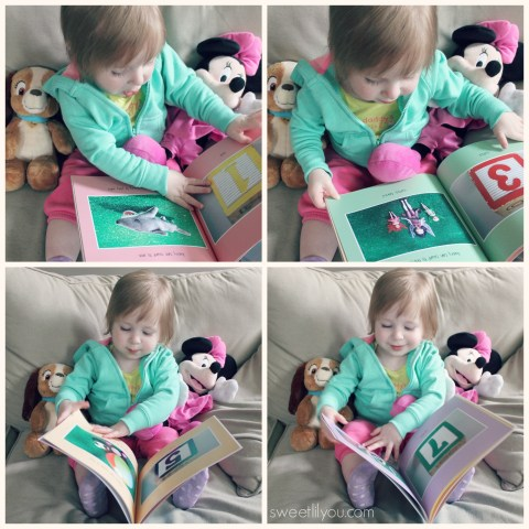 Avery loves her personalized book frok Twigtale! #reading #books #children #kids