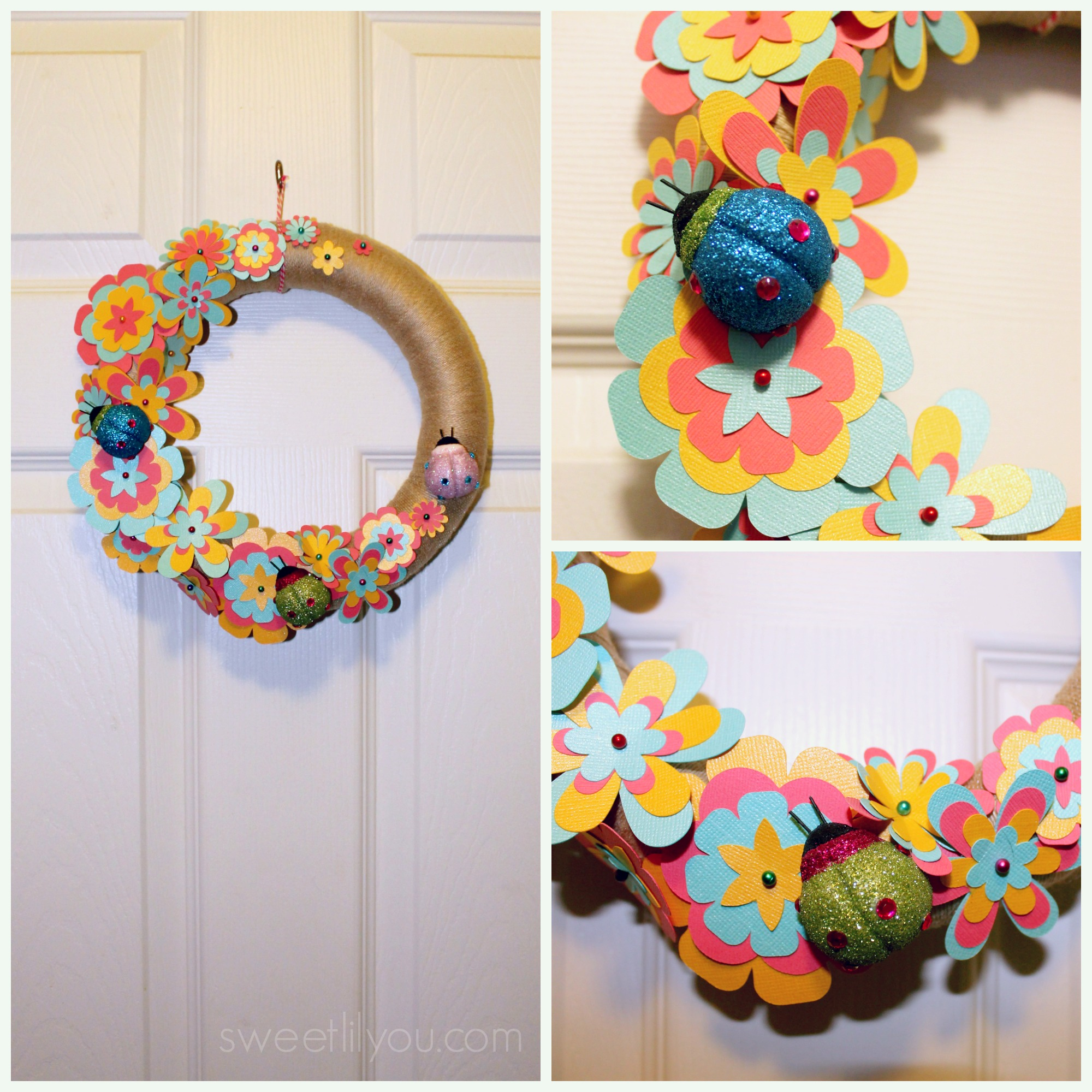 Easy DIY Paper Flower Wreath! - sweet lil you