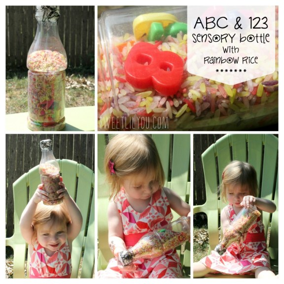 Rice AlphabetNumber Search Sensory Bottles for Toddlers via sweetlilyou.com