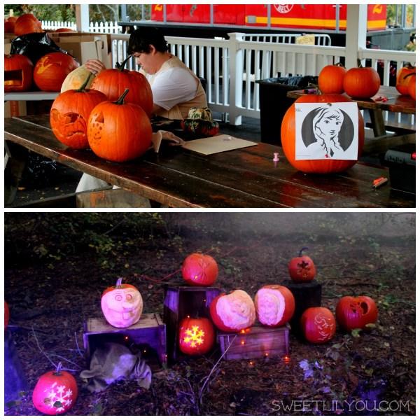 Frozen pumpkins at pumpkins aglow
