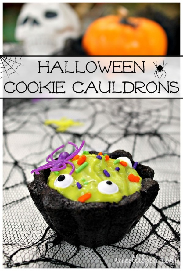 Halloween Cookie Cauldrons! A Fun Halloween Dessert recipe!