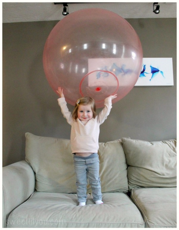 Avery loves wubble ball