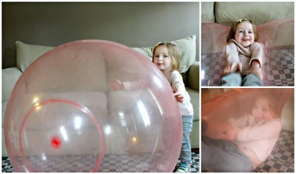Wubble ball at play