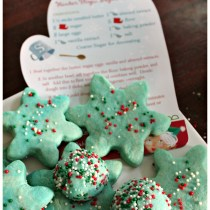Avery's snowflake cookies #northpolefun #ad