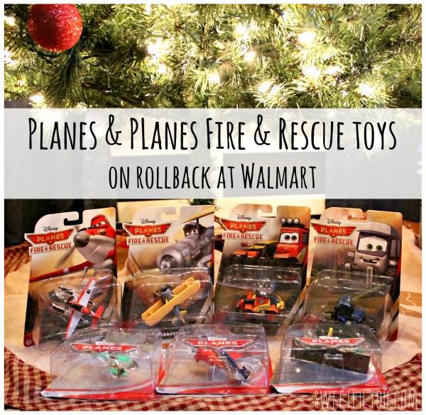 Disney Planes toys Walmart rollback prices #PlanesToTheRescue #ad